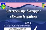 Warszawska Syrenka 2021 – eliminacje gminne